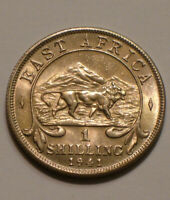 1941 SILVER SHILLING OF EAST AFRICA CHOICE BU WITH LION