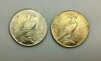 1922 & 1923 P SILVER DOLLAR LUSTROUS COINS LOT OF 2 PLEASING TONED PIECES