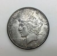 1923 S SILVER DOLLAR COIN PLEASING TONED PIECE FULL CARTWHEEL LUSTRE