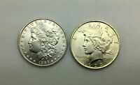 1886 P & 1923 P SILVER DOLLAR LUSTROUS COINS LOT OF 2 PLEASING  PIECES