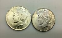 1923  & 1923 S SILVER DOLLAR LUSTROUS COINS LOT OF 2  PLEASING  PIECES