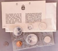 1967 CANADIAN SILVER CENTENNIAL PROOF LIKE SET  TARNISHED 50