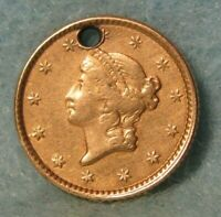 1853 LIBERTY HEAD $1 ONE DOLLAR UNITED STATES GOLD COIN BETT