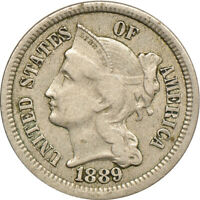 1889 THREE CENT NICKEL,  FINE, 3CN C00050406
