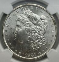 1881S SAN FRANCISCO MORGAN DOLLAR NGC MS63 FLASHY SOMEWHAT PL APPEARANCE SHARP