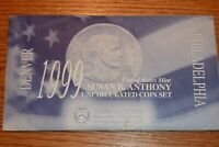 1999 SUSAN B ANTHONY UNCIRCULATED DENVER AND PHILADELPHIA CO