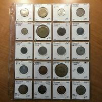 MIXED LOT OF TWENTY  20  DENMARK 1852 1969 COINS LARGE VARIETY OF DATES & TYPES