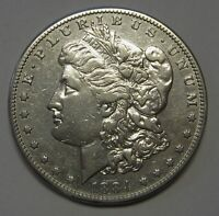1884 S MORGAN SILVER DOLLAR POLISHED GRADING AU PRICED RIGHT SHIPPED FREE  E43