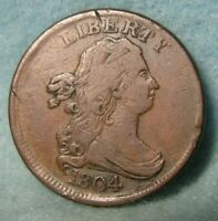 1804 DRAPED BUST HALF CENT BETTER GRADE DETAILS UNITED STATES COIN
