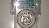1943-S PCGS MINT STATE 66 CAC WALKING LIBERTY SILVER HALF DOLLAR-GEM CAC LOOKS MINT STATE 67