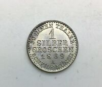 GERMAN STATES 1869  A PRUSSIA  SILBER GROSCHEN  KM485 CHOICE ORIGINAL COIN