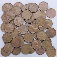 1951 D LINCOLN WHEAT CENT ROLL 50 CIRCULATED PENNIES US COINS