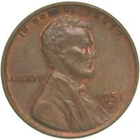 1951 D LINCOLN WHEAT CENT ABOUT UNCIRCULATED PENNY AU