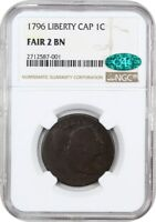 1796 1C NGC/CAC FAIR-02 LIBERTY CAP AFFORDABLE EARLY CENT - LARGE CENT