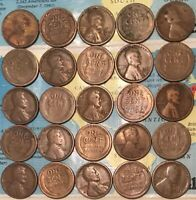 1925-D 25 1925-S 25 MIXED ROLL 50 LINCOLN CENTS//AVERAGE CIRCULATED/