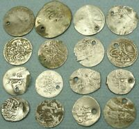 LOT OF 16 OTTOMAN SILVER COINS
