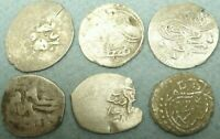 LOT OF 6 OTTOMAN SILVER COINS