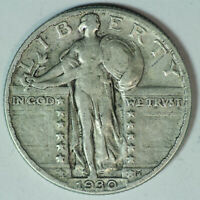 1930-P STANDING LIBERTY SILVER QUARTER / HIGHER GRADE / LAST YEAR ISSUED / SQ86