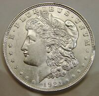 1921   MORGAN SILVER DOLLAR   CLIPPED RIM   MINT ERROR   UNC