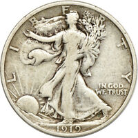 1919 WALKING LIBERTY HALF DOLLAR.  FINE.  C00050524