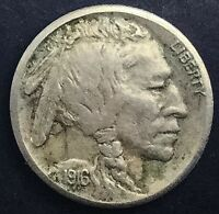 1916 S SAN FRANCISCO BUFFALO  NICKEL KEY DATE