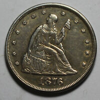 1876 SEATED 20C TWENTY CENT AZ70