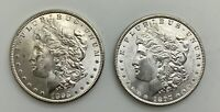 1898 O & 1897 P MORGAN DOLLAR  PAIR  CHOICE LUSTROUS GRADE FROM ROLLS