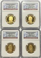 2011 S NGC PF70 ULTRA CAMEO PRESIDENTIAL 4 COIN SET JACKSON GRANT HAYES GARFIELD