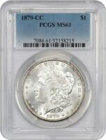 1879-CC $1 PCGS MINT STATE 61 - KEY DATE FROM CARSON CITY - MORGAN SILVER DOLLAR