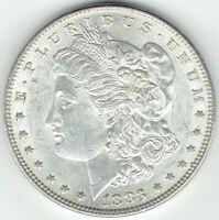1883-P $1 MORGAN SILVER DOLLAR, SLIDER, UNCIRCULATED