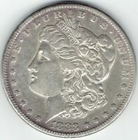 1883-S $1 MORGAN SILVER DOLLAR EXTRA FINE /AU DETAILS, FITS INTO A SET