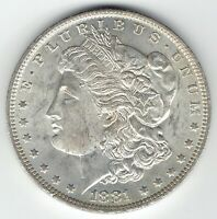 1881-O $1 MORGAN SILVER DOLLAR BU FULL STRIKE FULL FEATHERS