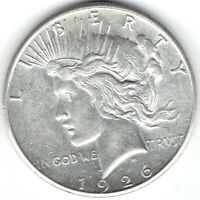 1926-S $1 PEACE DOLLAR, SLIDER, UNCIRCULATED, REALLY  COIN