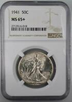 1941 WALKING LIBERTY HALF DOLLAR NGC MINT STATE 65  FROM ORIGINAL ROLL NEVER DIPPED