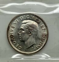 CANADA 1947 ML   25 CENTS MS 63 TONED  SILVER QUARTER CREAMY SURFACES