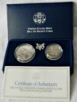 USA: TWO-COIN SET COMMEMORATIVE COINS 1993
