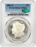 1881-O $1 PCGS/CAC MINT STATE 64 DMPL - MORGAN SILVER DOLLAR - BETTER DATE