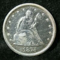 1875 S 20 TWENTY CENT PIECE HIGH GRADE UNITED STATES SILVER