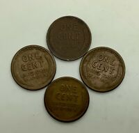 1911 P 1915 S 1925 S 1926 S LINCOLN SMALL CENT LOT OF 4 DATES MIXED GRADES
