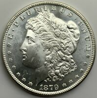 1879 S MORGAN DOLLAR  MINT STATE  GRADE COIN ORIGINAL CHOICE SEMI  PROOF LIKE Z