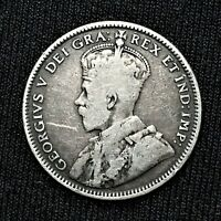 1912 CANADA NEWFOUNDLAND 20 CENTS KM 15 SILVER ONE YEAR ONLY ISSUE  COIN