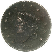 1830 CORONET LARGE CENT FINE DETAILS CORRODED SEE PICS D930