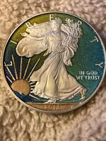 2013 SILVER EAGLE COLORIZED 1 OZ SILVER TONING