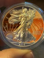 2016 SILVER EAGLE COLORIZED 1 OZ SILVER TONING