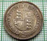 GREAT BRITAIN QUEEN VICTORIA 1887 JUBILEE 6 PENCE SIXPENCE SILVER TOP GRADE