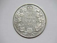 CANADA 50 CENTS 1934 KING GEORGE V LOW GRADE SILVER WORLD COIN