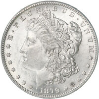 1879 O MORGAN SILVER DOLLAR AU SLIDER