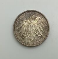 GERMANY PRUSSIA 1913 A 2 MARK 25TH ANNIVERSARY  WILHELM II GORGEOUS TONED UNC