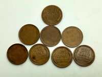 1909VDB 1910S 1910 11D 13S 17S 1926 S 1931 LINCOLN LOT OF 8 DATES MIXED GRADES