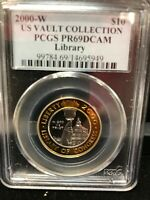 2000 W $10 BI METAL LIBRARY OF CONGRESS GOLD   PLATINUM PCGS